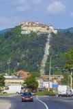 Fortezza di Rasnov, la Transilvania Romania fotografie stock libere da diritti