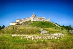 Fortezza di Rasnov in Romania Fotografie Stock Libere da Diritti