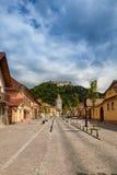 Fortezza di Rasnov in Romania Fotografia Stock