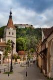 Fortezza di Rasnov in Romania Fotografia Stock Libera da Diritti