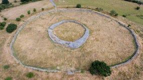 Fortezza di Rathgall shillelagh contea Wicklow, Irlanda fotografia stock