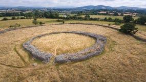 Fortezza di Rathgall shillelagh contea Wicklow, Irlanda fotografie stock