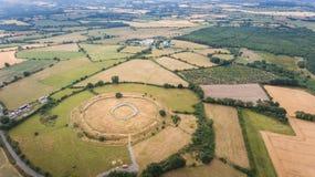 Fortezza di Rathgall shillelagh contea Wicklow, Irlanda immagini stock