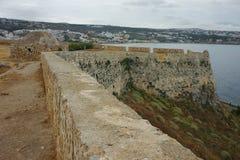 Fortezza di Rethymn Fotografia Stock