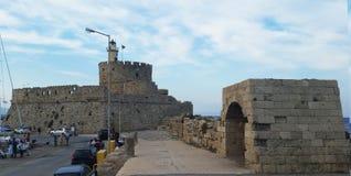 Fortezza di Rodi Porta Faro La città di Rodi Rodi i immagine stock libera da diritti