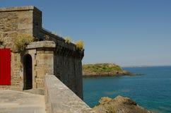 Fortezza di Saint Malo, Francia Immagini Stock