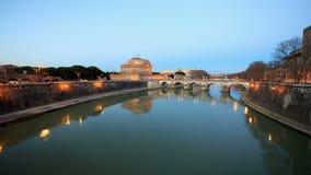 Fortezza di San Angelo, Roma, Italia Timelapse 4 video d archivio
