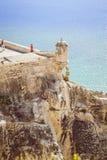 Fortezza di Santa Barbara, Alicante, Spagna Fotografia Stock Libera da Diritti