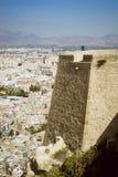 Fortezza di Santa Barbara, Alicante, Spagna Fotografie Stock Libere da Diritti