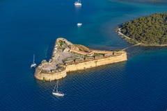Fortezza di Sibenik San Nicola Fotografie Stock Libere da Diritti