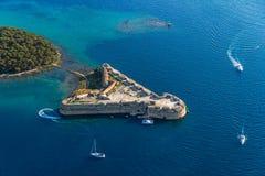 Fortezza di Sibenik San Nicola immagini stock libere da diritti
