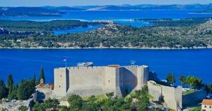 Fortezza di Sibenik St Michael Fotografia Stock