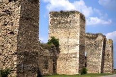 Fortezza di Smederevo sul fiume di Danubio in Serbia Fotografia Stock Libera da Diritti