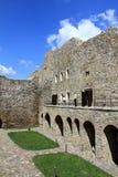 Fortezza di Suceava - corte del interiour Immagini Stock