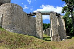 Fortezza di Suceava - entrata Immagine Stock Libera da Diritti