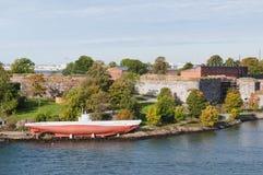 Fortezza di Suomenlinna a Helsinki Immagini Stock Libere da Diritti