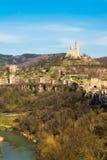 Fortezza di Tsarevets e chiesa in Veliko Tarnovo, Bulgaria del patriarca fotografia stock libera da diritti