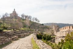 Fortezza di Tsarevets, Veliko Tarnovo, Bulgaria Fotografie Stock Libere da Diritti