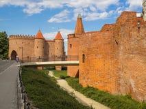 Fortezza difensiva del barbacane di Varsavia della città Fotografia Stock