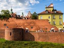 Fortezza difensiva del barbacane di Varsavia della città Fotografie Stock