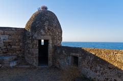 Fortezza fortress watchtower, Rethymno, Crete Royalty Free Stock Photography