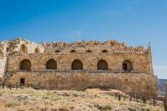 Fortezza Giordania del castello del crociato del kerak di Al Karak Fotografia Stock