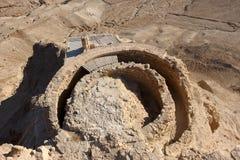 Fortezza Masada nell'Israele Fotografia Stock Libera da Diritti