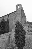 Fortezza Medicea di Girifalco in Cortona. The current fortress at the very top of Cortona, Italy was built in 1556 in the same location as previous Etruscan Royalty Free Stock Photo