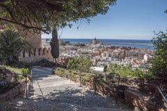 Fortezza medievale Alcazaba di moresco a Almeria Immagini Stock