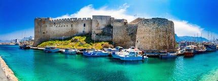 Fortezza medievale in Kyrenia, parte turca, isola del Cipro Immagini Stock