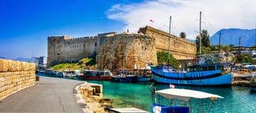 Fortezza medievale in Kyrenia, parte turca, punto di riferimento del Cipro Immagine Stock Libera da Diritti
