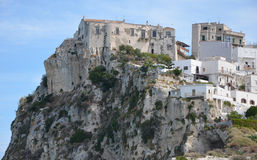 Fortezza medievale in Peschici Fotografie Stock Libere da Diritti