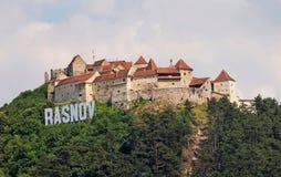 Fortezza medievale in Rasnov, Romania Fotografia Stock Libera da Diritti
