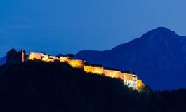 Fortezza medioevale di Rasnov, Transylvania, Romania fotografia stock libera da diritti