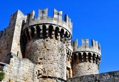Fortezza medioevale di Rodi. immagine stock