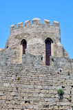 Fortezza medioevale di Rodi, Grecia. fotografie stock