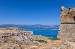 Fortezza in Nafplio, Grecia Fotografie Stock Libere da Diritti