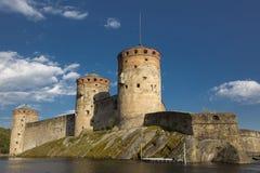 Fortezza nella città di Savonlinna in Finlandia Immagini Stock