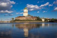Fortezza nella città di Vyborg in Russia Immagine Stock