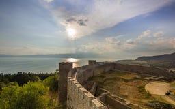 Fortezza Ocrida di Samuels Immagine Stock