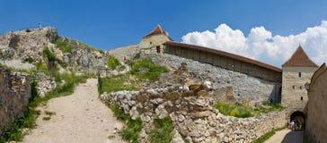 Fortezza-panorama di Rasnov immagine stock libera da diritti