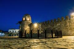 Fortezza Ribat in Medina Susa nella notte illuminata dalla luna Immagine Stock Libera da Diritti