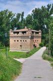 Fortezza Rocca Stellata. Bondeno. L'Emilia Romagna. Immagine Stock