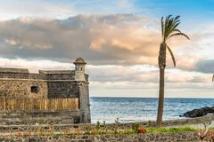 Fortezza a Santa-Cruz de Tenerife Immagini Stock Libere da Diritti