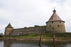 Fortezza Shlisselburg (Oreshek) Fotografie Stock