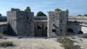 Fortezza storica nel cuore di Pola immagini stock