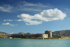Fortezza triangolare a Butrint, Albania del sud Immagini Stock Libere da Diritti