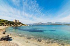 Fortezza Vecchia beach in Villasimius Royalty Free Stock Photography