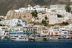 Fortezza veneziana in Naxos, isole di Cicladi Fotografie Stock Libere da Diritti