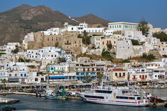 Fortezza veneziana in Naxos, isole di Cicladi Fotografia Stock Libera da Diritti